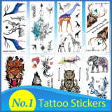 Custom Design Hot 3D Gold Silver Diamond Jewelry Flash Crystal Cartoon Tattoo Paper Face Eye Nails Water Proof Transfer Metallic Temporary Body Tattoo Stickers