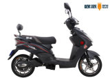 Black Pedal Electric Scooter Bike with LCD Speedmeter Rear Backrest