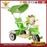Double/Single Baby Walker Trike, Kids Tricycle Two Seat, Double Tricycles for Children with Trailer