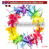 Hawaiian Luau Multicolour Lei Flower Tinsel Sparkle Promotional Items (BO-3006)