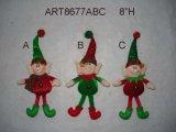 "8""H Christmas Tree Ornament Elf-3asst"