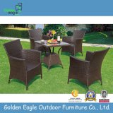 PE Rattan Outdoor Sued Garden Plastic Tables and Chairs