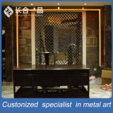 Customized Bronze Laser Cut Stainless Steel Room Divider for Hotel/Restaurant