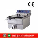 16L Single Stainless Steel Electric Fryer with Oil Valve
