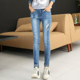 China Manufacture Selling Fashion Design Lady′s Denim Jeans
