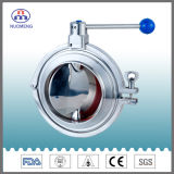 Sanitary Stainless Steel Manual Clamp Type Welded Butterfly Valve