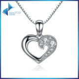 925 Sterling Silver Romantic Silver Heart Pendant Necklace