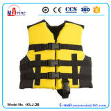 Best Sale Yellow Color Youth Nylon Life Jacket Vest Pfd