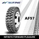 Aufine 13r22.5 TBR Tyre with S+M, Labeling.
