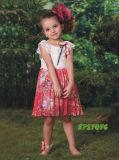 2017 Latest Amazing Summer Printed Chiffon Ruffle Little Girls Dresses