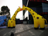 New Arrival Yellow Inflatable Giraffe Animal Arch for Sale