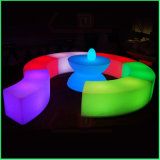 Colorful Changing Bar Furniture Free Combination LED Bend Stool