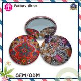 Cmyk Printed Light Tin Button Mirror