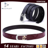 New Arrival Emboss Logo Lizard Leather Durable Fashion Belt