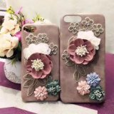 Wholesales New Arrival Fashion Flower Plush 3D Cell Phone Case for iPhone7