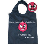 Foldable Shopper Bag, Mustache Style, Reusable, Promotion, Lightweight, Tote Bag, Grocery Bags and Handy, Gifts, Decoration & Accessories
