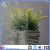 Clear May Flower Pattern Glass/Rolled Glass/Figured Glass/Decrotive Glass (Flora)