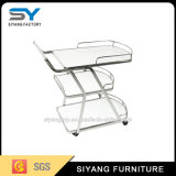Chinese Furniture Stainless Steel Two Tier Dining Trolley