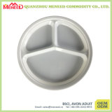 New Item Cheap 3 Sections Small Round Melamine Tray