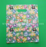 Printed Plastic Carrier Shopping Gift Bag with Die Cut Handle