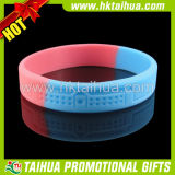 Debossed Logo Silicon Bracelets with Segmented Color (TH-band033)
