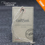 Kraft Paper Hang Tag with Hemp for Garments
