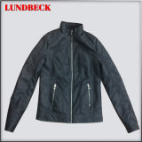 Black PU Jacket for Women in Winter Outerwear Clothes