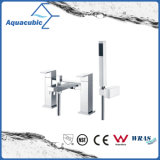 Chromed Double Handle Bath Shower Tap with Hand Shower (AF6028-2B)