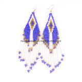Hot-Sale 4 Colors New Arrival Bohemian Woven Beaded Tassel Earrings