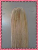 Fashionable Premium Quality Clip-in Hair Extensions Remy Silky18inches Blonde Color