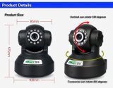 Chinese Supplier! 720p H. 264 PTZ WiFi IR Nightvision Indoor Hidden Video Security Wireless P2p IP Camera with SD Card Slot