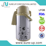 Fashion Colorful Flower Thermos Vacuum Pot with Glass Inner