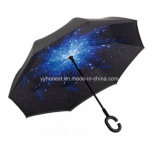 24 Inches Full Starry Sky Printing Inverted Umbrella