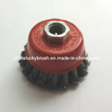 "3"" Steel Wire Knot Cup Brush 5/8""-11 Thread (YY-384)"