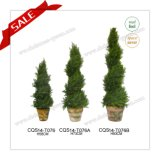 50-93cm Cheap PE Evergreen Spiral Tree Artificial Topiary Plants and Trees