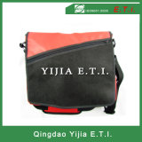 Red Color Messenger Bag with Zippered Outer Pocket