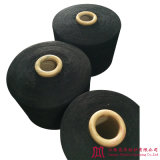 Recycled Black Cotton Polyester Yarn (0-10s)