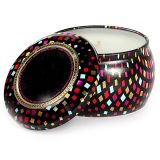 Seamless Oval Shaped Scented Candle Tin Box Set