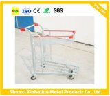Double Basket Shopping Cart Supermarket Trolley
