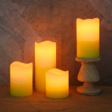 Warm Yellow Color Flickering LED Candle