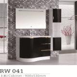 Modern LED Mirror PVC Single Ceramic Sink Bathroom Vanity Unit