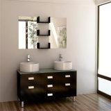 Simple Design Wood Double Basin Hotel Bathroom Furniture
