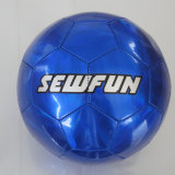 Metalic Color Blue PVC Leather Soccerball Football