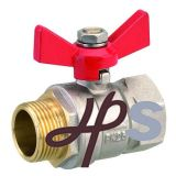 Brass Ball Valve F/M, with Butterfly Handle