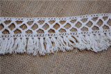 Hot Sell Cotton Crochet Fringe Lace for Hometextiles