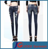Special Scratch Fashion Girl Supper Slim Jeans (JC1182)