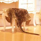 Genuine Kangaroo Skin Rug with Leopard Print
