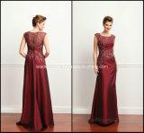 Burgundy Mother′s Dresses Applique A-Line Taffeta Evening Dresses Z5065