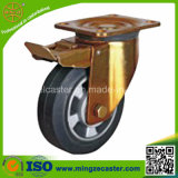 6 Inch Solid Rubber Wheel Caster, Heavy Duty Caster