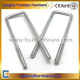 "1/2"" Square Zinc Plated Trailer U-Bolt with Hex Nuts"